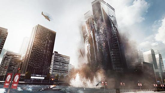 DICE kallar det här för levolution. Det är ett PR-ord för att man kan spränga skyskrapor.