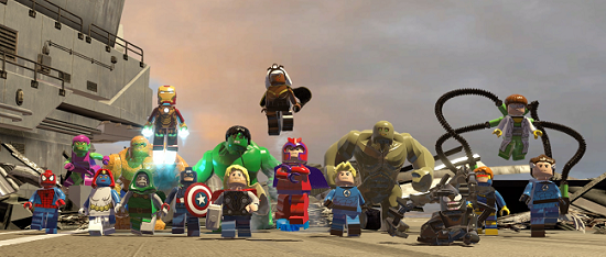 Detta är bara några få av alla de Marvel-karaktärer som går att hitta i LEGO Marvel Super Heroes