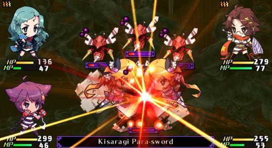 Kisaragi gör en rejäl specialattack, helt utan rosa dimma!