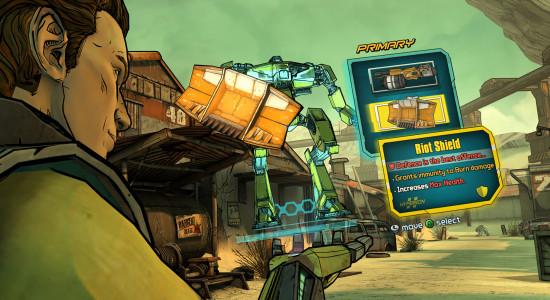 Gränssnittet från Borderlandsspelen är på plats såklart!