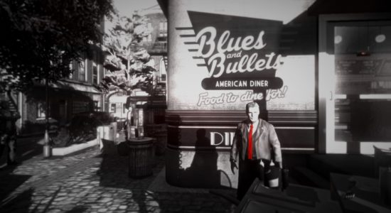 Allt är inte mörkt i spelet, protagonistens slips är ju färggrann!