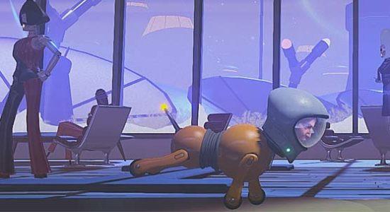 Man kan byta kroppar med vad som helst på rymdstationen, till och med robothundar.
