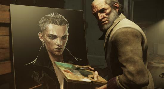 Sokolov försökte sig på ett självporträtt, men jag vet inte om det blev så lyckat.