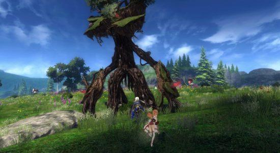 Självklart går det att hugga träd även med en katana!