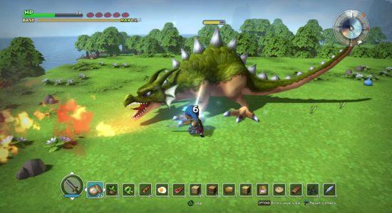 Jodå, drakarna är ganska stora i Dragon Quest Builders!