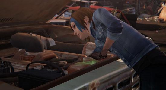 Det är klart att Chloe kan mecka med bilar också. Vänta! Vad har hänt med håret?