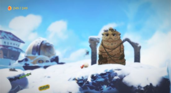 Högst uppe på berget finns en ytterligare en varelse som behöver hjälp.