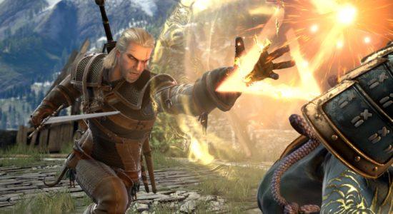 Geralt skickar PlayStation-triangeln rätt i nyllet på sin motståndare.