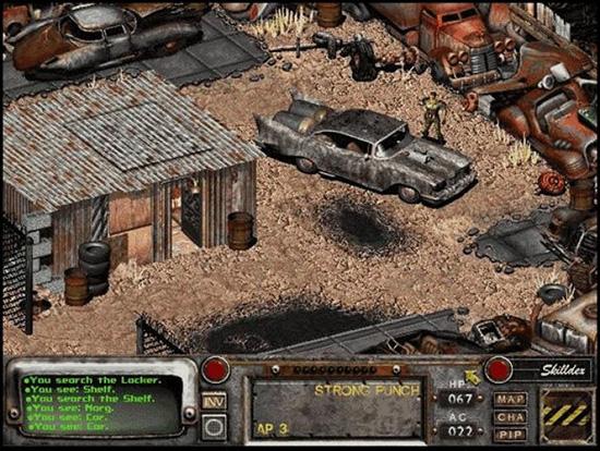 Sådana här vrålåk kunde man glida omkring i i Fallout 2.
