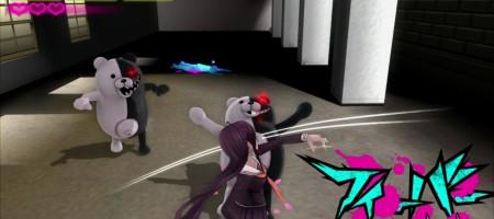Monokuma är tillbaka, Monokuma är tillbaka. Varför sa du det två gånger? Det gjorde jag inte!