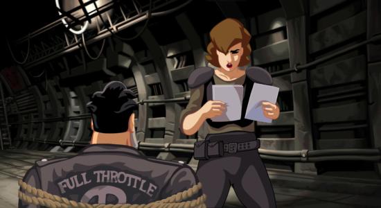 Bild från Full Throttle Remastered föreställande Ben och Maureen
