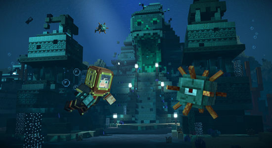 Japp, vi får dyka under ytan! Efterlängtad upplevelse i Minecraft-världen!