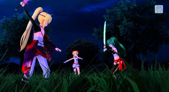 Klart att Miku-chan kan slåss med svärd!