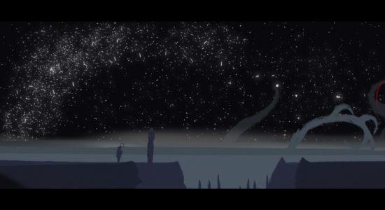 En vacker bakgrund, en totempåle som berättar en saga. Vad kan man mer begära?